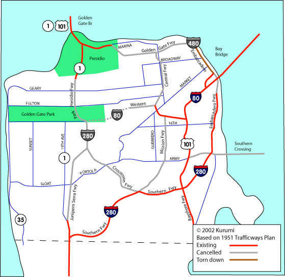 San Franciscos Freeway Plan
