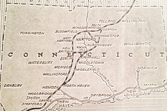Proposed Merritt Highway Extension Feb 1937 As Shown In New York Times