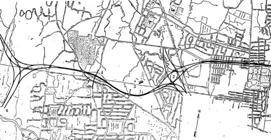 State 1959 Plan For I 291 In Bloomfield